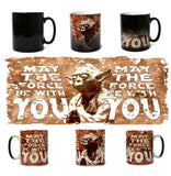 "SW Coffee Color Changing Mugs ""May The Force Be With You Yoda Mug"""