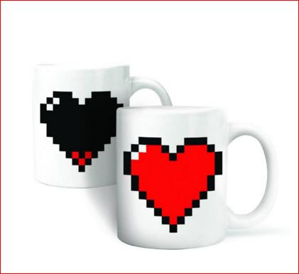 Magic Ceramic Color-Changing Mug Heart Mug
