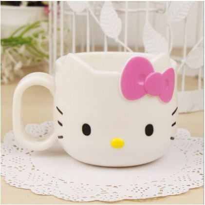 Cute Hello Kitty Tooth Mugs Plastic Tooth-brushing Cup