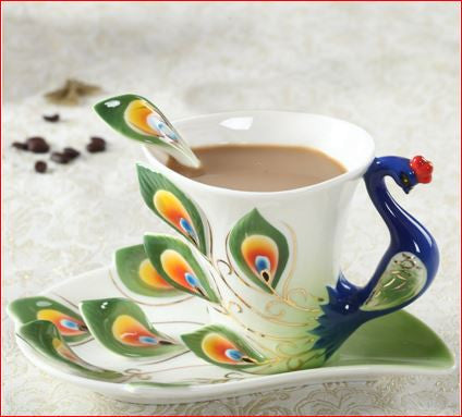 Peacock Coffee Mug Cup Ceramic  3D