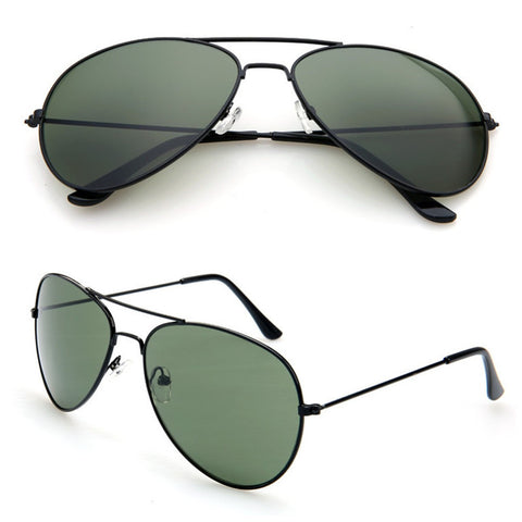 Unisex Polarized Aviator Mirrored Lens Sunglasses