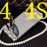 "Luxury Crystal Diamond Mirror Hard Case Cover for iPhone 4 4s 5 5s 6 6s 4.7"" / 6 Plus 6s plus 5.5"""
