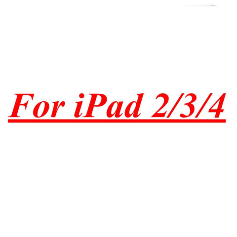Tempered Reinforced Glass Screen Protector Case For iPad 2 3 4 /5 Air For iPad Mini 1 2 3 4 Clear Front Film With Retail Box