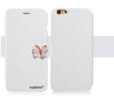 MB Luxury Fashion Butterfly Built-in Card slot Silk pattern 4.7 inch Stand Flip Leather Mobile Phone Case For iPhone 6 6S