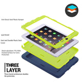 iPad mini 1/2/3 Retina Kids Baby Safe Armor Shockproof Heavy Duty Silicone Hard Case Cover Screen Protector Film+Stylus Pen