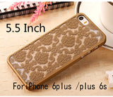 Luxury Vintage Flower Pattern Phone Cases  for Apple iphone 6 Case for iphone 6S Plus cover