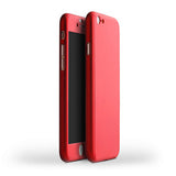 MB Hybrid 360 Case Hard Ultra thin Capa Cover For  iPhone 6 6S Plus Phone Case + Tempered Glass