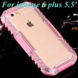 Waterproof Case For Apple iphone 6S Transparent Crystal Clear Cellphone Hard Cover For iPhone 6S Plus 5.5'