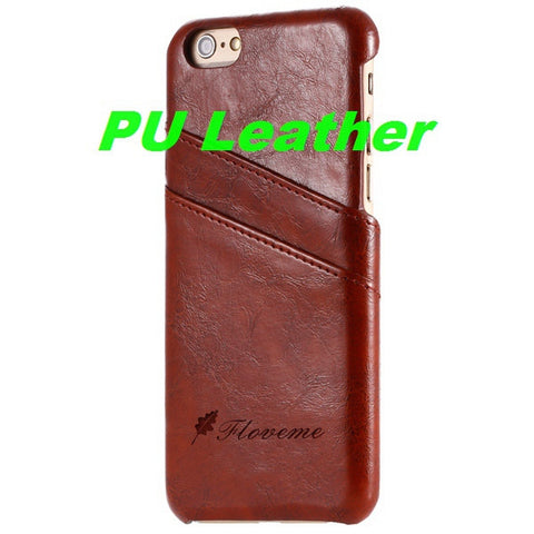 Business Style Luxury Leather Case For Apple Iphone 6 6S with Card Holder