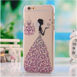 Beautiful butterfly Crystal Diamond Bling Transparent colored Phones Protector Back Cover for iPhone 6 6s