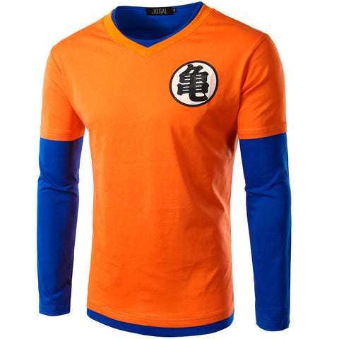 Goku Premium  V Neck Long Sleeve Tshirt