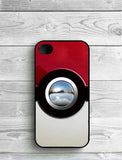 PokeBall Black Phone Case For iPhone
