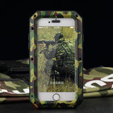 Metal Extreme Shockproof Military Heavy Duty   Waterproof Case with Tempered Glass
