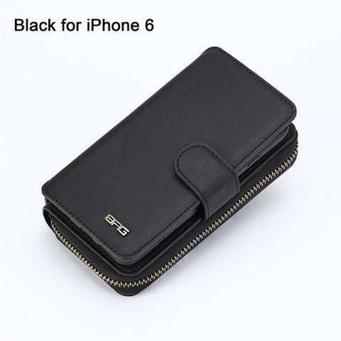 PU Leather Multi Functional Wallet Card iPhone Case