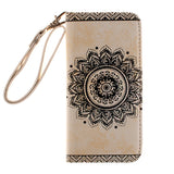 Luxury Sun flower Flip PU Leather Wallet Card Strap Stand Case Cover+Lanyard for iPhone 5 5S SE/6S/6 PLUS