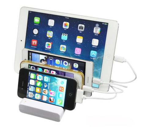 4 USB Desktop Charging Dock Station  For Apple iPhone ipad, Xiaomi Huawei Samsung HTC