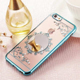 Luxury Bling Diamond Mirror Clear Crystal Electroplating  iPhone 6 6S 6Plus Back Case