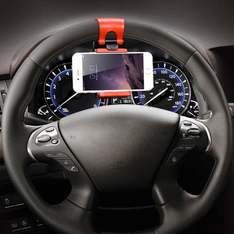 Universal Steering Wheel Holder For iPhone 6 6s Plus 5 5s SE Samsung Galaxy S5 S6 S7 Edge Case Cover