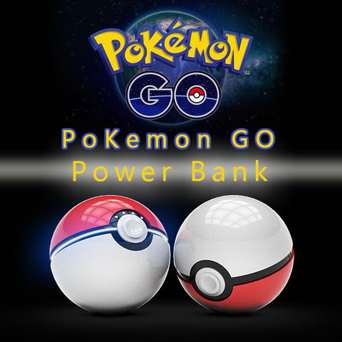 POKEMON GO POKEBALL 12,000 MAH LED QUICK PHONE CHARGER **50% OFF**