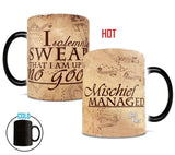 i solemnly swear HP mischief managed coffee heat sensitive mug