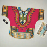 Orange Dashiki Tops