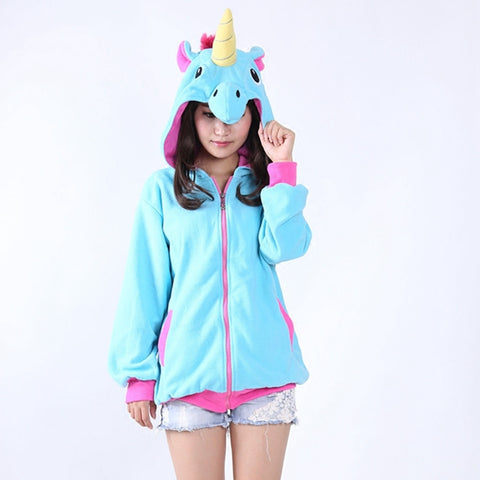 Blue & Pink Unicorn Hoodies