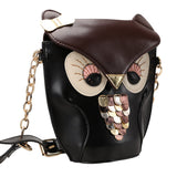 Owl Pattern Leather Shoulder Bag