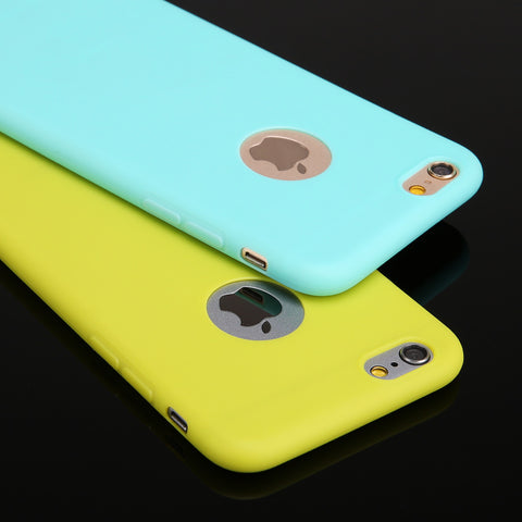 New Silicon Candy colors Soft TPU Silicon phone cases for iphone 6 4.7""
