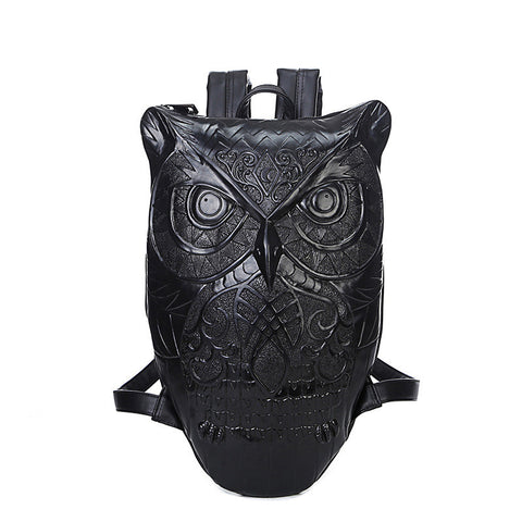 Platinum Collection Owl Head Leather Bag-FREE Shipping