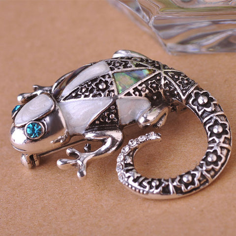 Kreative Lizard Chameleon Brooches