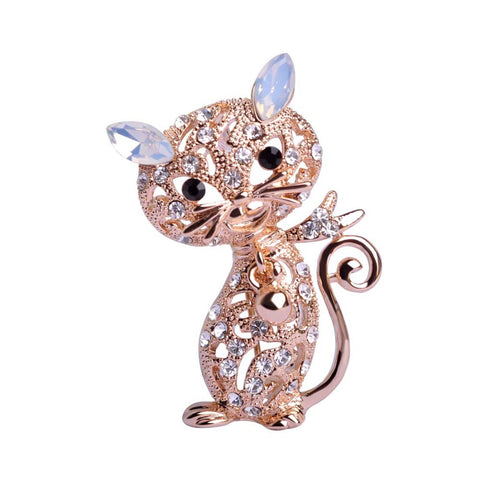 Kreativ  18K Gold  Cat Brooches