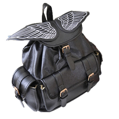Vintage Leather Wings Backpack