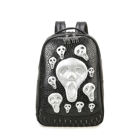 Platinum Collection Leather Skull backpack Unisex