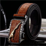 Executive Leopard Leather Belts For Men
