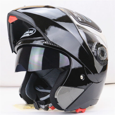 NMB Unisex Motorcycle Helmet With Inner Sun Visor with Double Lens