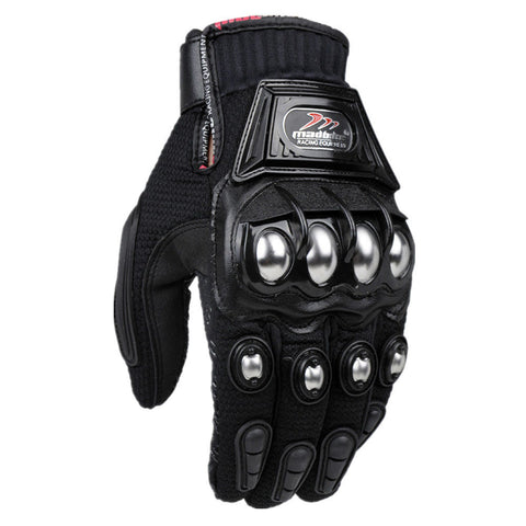Alloy Steel Motorcycle Gloves M L XL