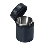 4 Pcs Stainless Steel Camping Cups with Leather Cover-Free Shipping