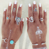 Elephant Jewelry Cuff Bangles Bracelets,Rings Set-FREE-Just pay shipping