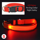 Colorful LED Nylon Pet Dog Collar
