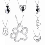 Lovely Cats & Cat Paws Necklace FREE Today!