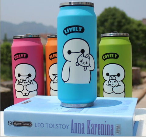 4 Color Big Hero Thermos Cup Mug Stainless Steel Bottle Vacuum Flasks Thermal bottle Garrafa Termica Infantil Thermocup 450ml