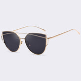 Women Twin-beam Cat Eye Sunglasses