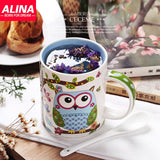 Cute Owl Ceramic Coffee Mug