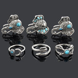 Bohemian 6pcs/Pck Elephants Lucky Rings Set- FREE SHIPPING
