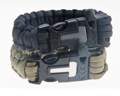 4 in 1 Survival Camping ignition Equipment Bracelet kit