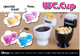 Creative Cute WC. Toilet seat CUP With lid & Spoon