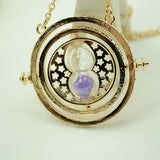 FREE Time Turner Necklace Hermione Granger Rotating Spins Hourglass