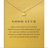Elephant Good Luck  Gold Plated Chains