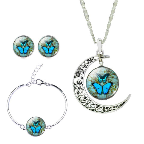 Vintage Butterfly & Cat Maxi Necklace Sets-Free Shipping