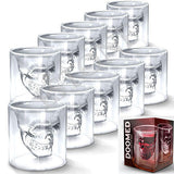 10 Pieces Skull Hot Shot Glass
